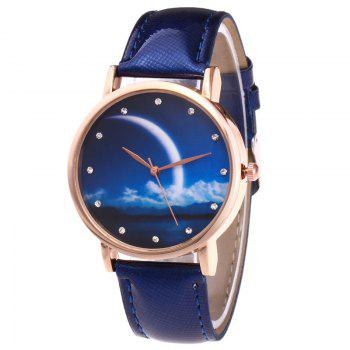 Night View Face Faux Leather Watch - ROYAL ROYAL
