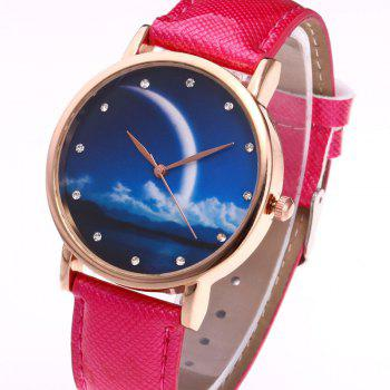 Night View Face Faux Leather Watch -  TUTTI FRUTTI