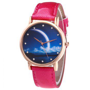 Night View Face Faux Leather Watch - TUTTI FRUTTI TUTTI FRUTTI