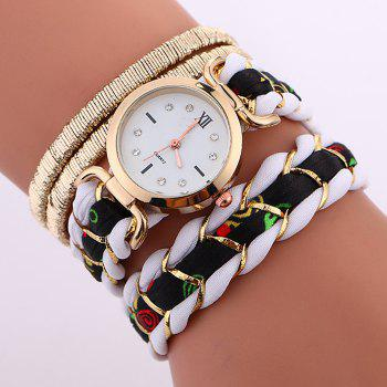 Braided Wrap Bracele Watch - WHITE WHITE