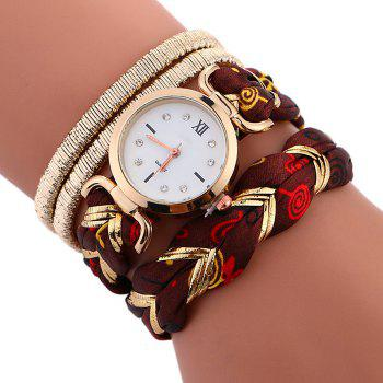 Braided Wrap Bracele Watch - BROWN BROWN