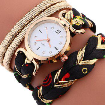 Braided Wrap Bracele Watch - BLACK