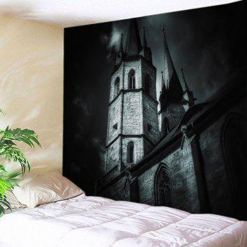 Castle Print Halloween Tapestry Wall Hanging Art