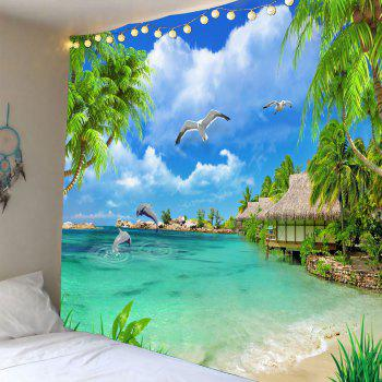 Wall Decor Beach Cottage Seascape Waterproof Tapestry