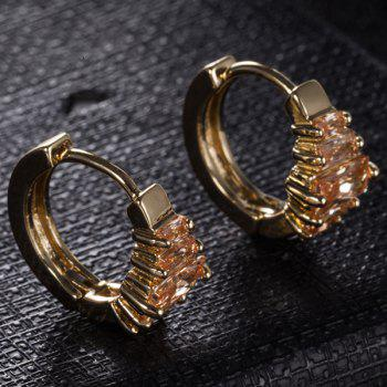 Boucles d'oreille strass strass - Champagne