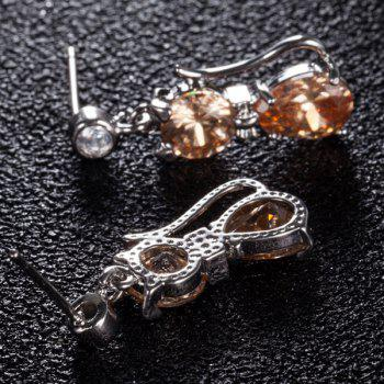 Boucles d'oreilles artificielles en incrustation de diamants - Champagne Or