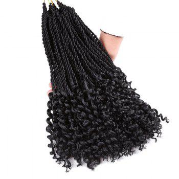 Crochet Pre Twisted Flashy Curl Long Braids Hair Extensions