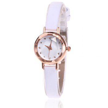 Faux Leather Roundel Watch - WHITE WHITE