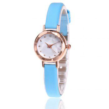 Faux Leather Roundel Watch