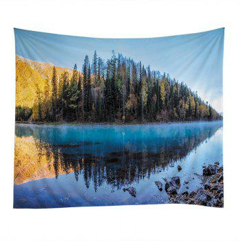 Lakeside Forest Print Tapestry Wall Hanging Art - Pers W79 INCH * L59 INCH