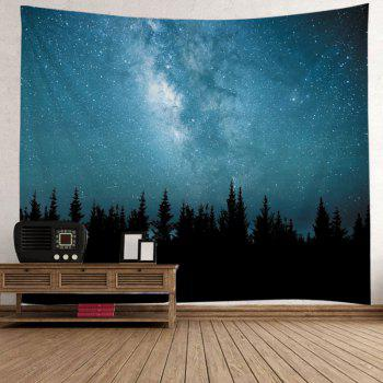 Starry Sky Forest Print Tapestry Wall Hanging Art - Pers W79 INCH * L59 INCH