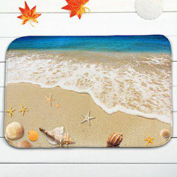 3Pcs / Set Conch Beach Antiskid Flannel Toilet Mat - RAL Sable Jaune
