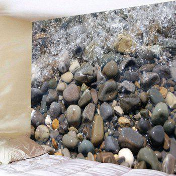 Water Stone Waterproof Wall Tapestry - GRAY W79 INCH * L59 INCH