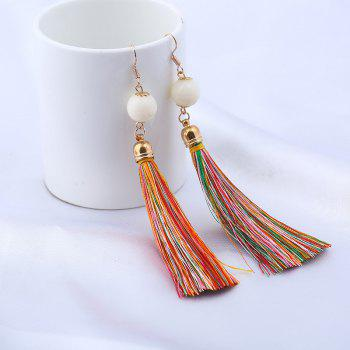 Vintage Bead Tassel Drop Hook Earrings