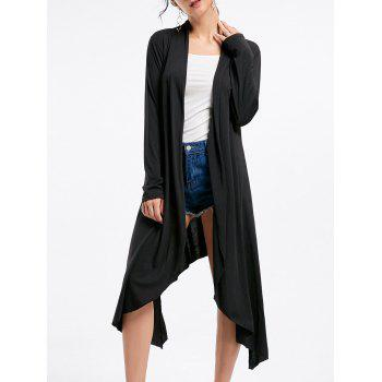 Open Front Long Sleeve High Low Cardigan