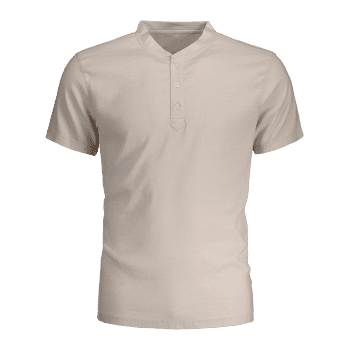 Short Sleeve Polo Shirt - LIGHT BEIGE LIGHT BEIGE