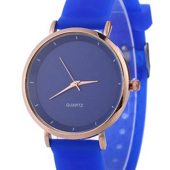 Silicone Strap Minimalist Watch - BLUE