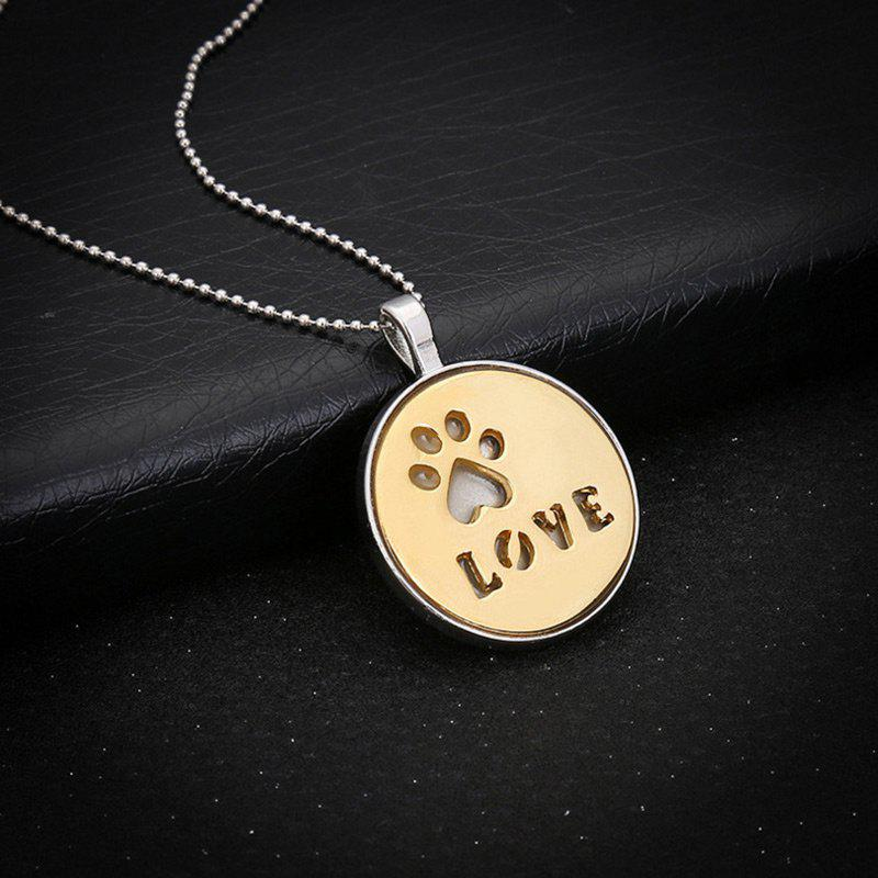 Love Glow in the Dark Claw Footprint Collier - Or