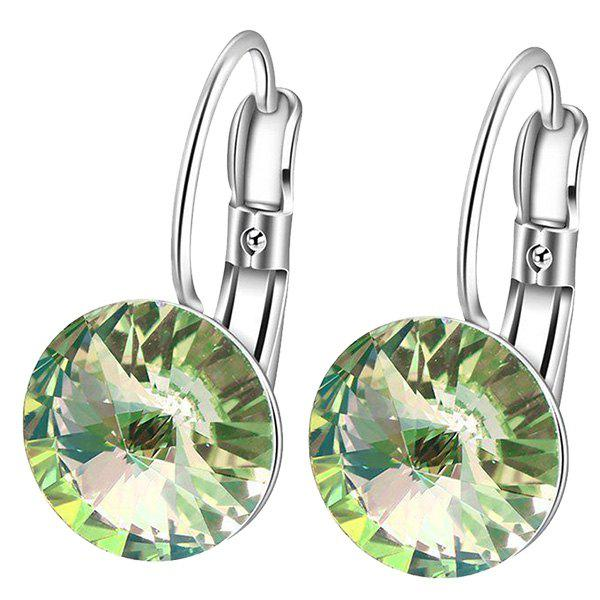 Faux Gem Clip Earrings - Vert