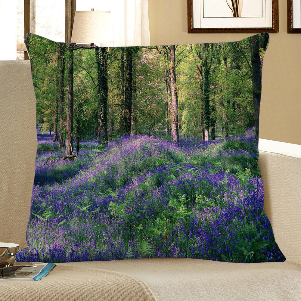 Lavender Forest Pattern Pillowcase - GREEN W18 INCH * L18 INCH