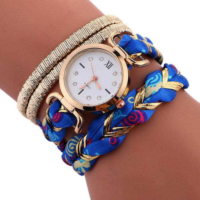 Braided Wrap Bracele Watch - BLUE