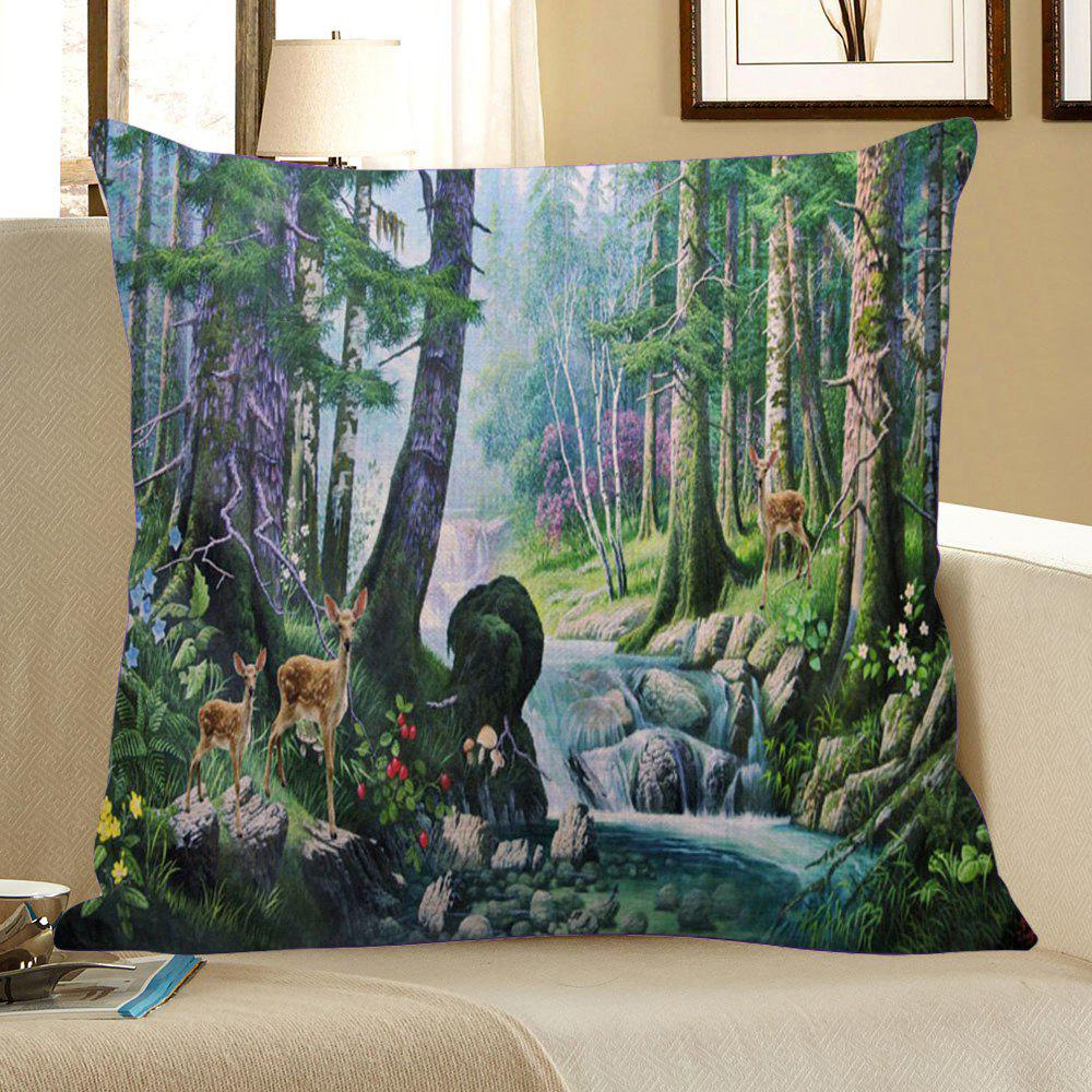 Floral Stream Fawn Printed Pillowcase - COLORMIX W18 INCH * L18 INCH