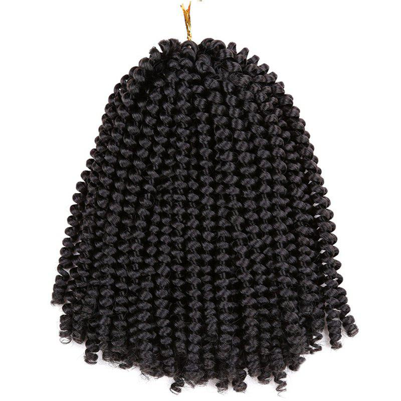 Fluffy Afro Spring Twist Braids Extensions de cheveux courts - Noir