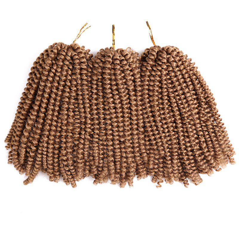 Fluffy Afro Spring Twist Braids Short Hair Extensions - LIGHT BROWN