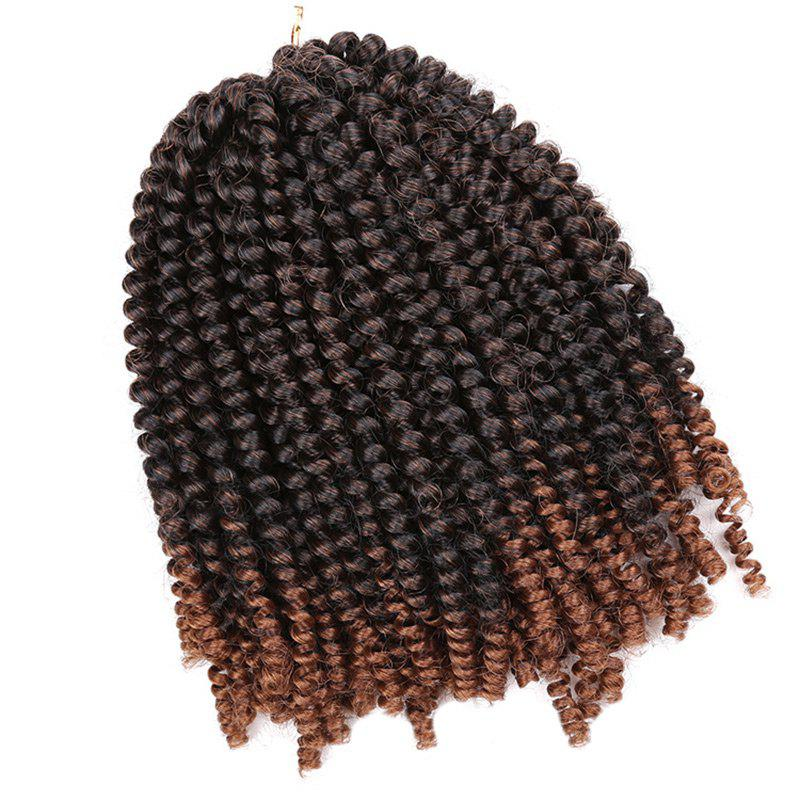 Fluffy Afro Spring Twist Braids Extensions de cheveux courts - Noir et Or