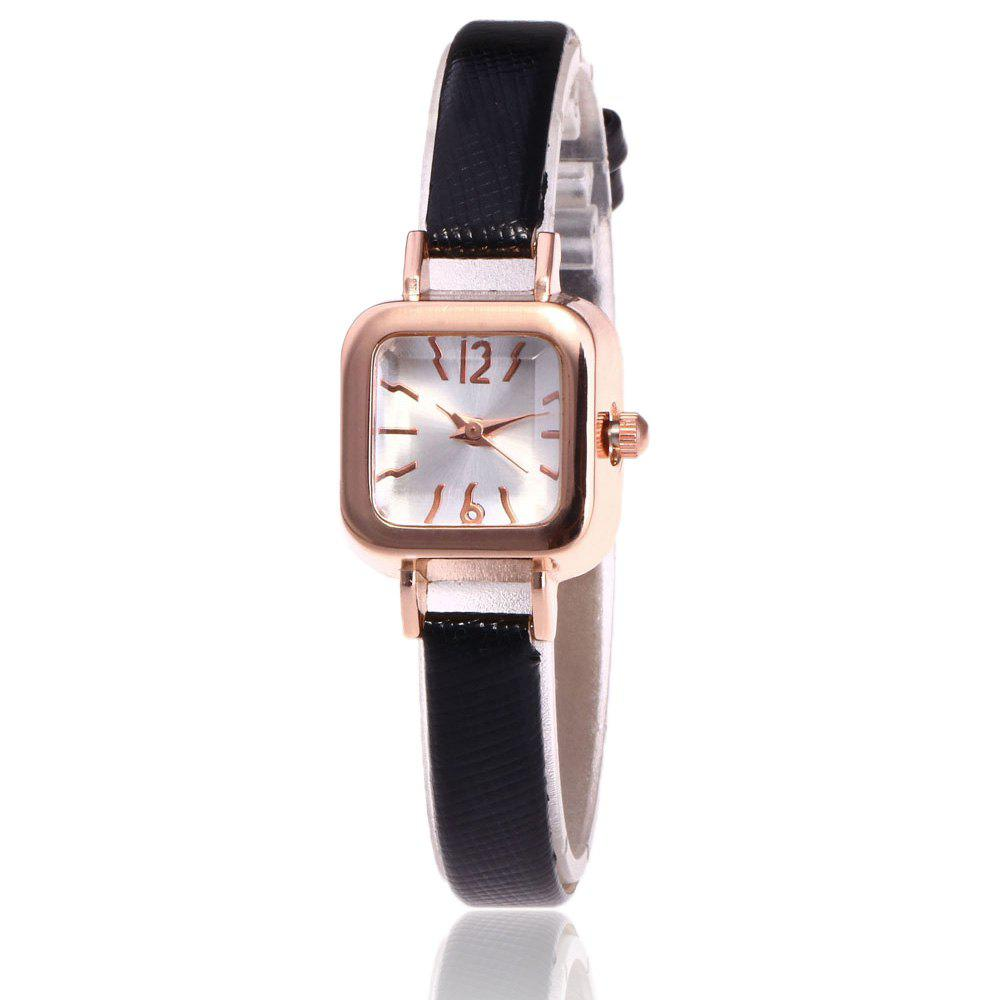 Faux Leather Square Shape Watch кроссовки liu jo b18021t2044 01597