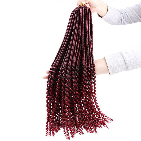 Faux Dread Locs Crochet Long Hair Braids Extensions - Rouge vineux