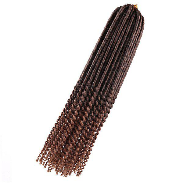 Faux Dread Locs Crochet Long Hair Braids Extensions - brun foncé