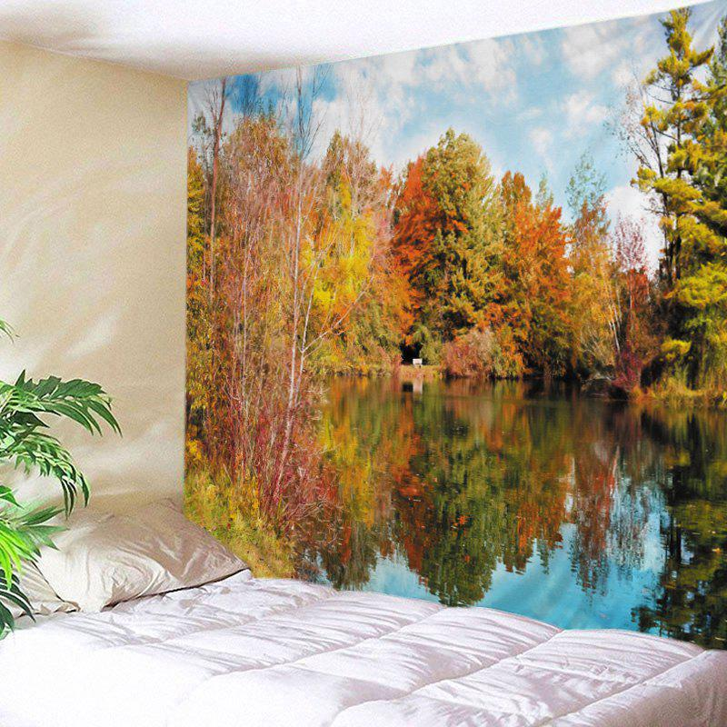 Forest Lake Print Tapestry Wall Hanging Art knife lake