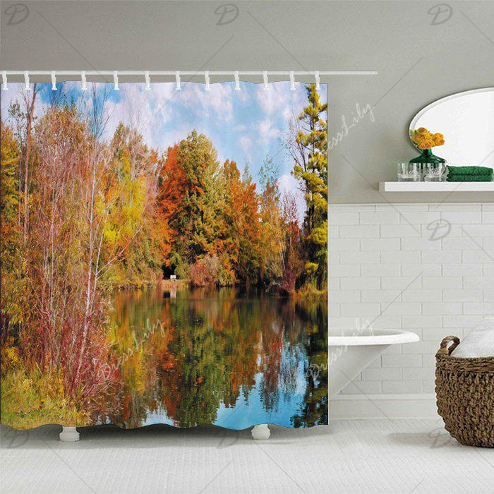 Forest Lake Fabric Home: 2018 Forest Lake Print Fabric Bathroom Shower Curtain