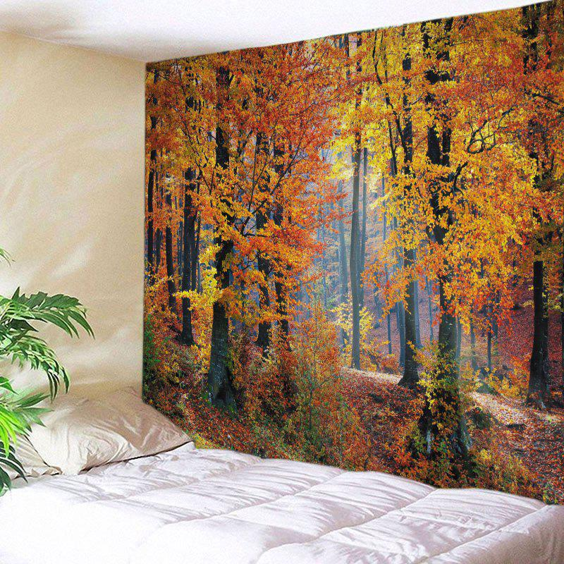 Maple Forest Print Tapestry Wall Hanging Decoration - Agrumes W79 INCH * L59 INCH