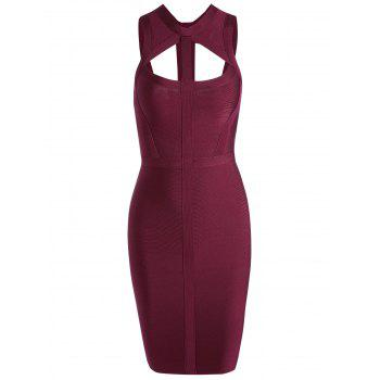 Cut Out Bodycon Bandage Dress