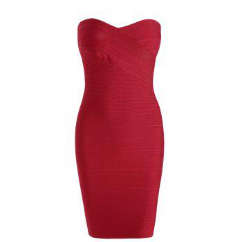 Strapless Bodycon Bandage Dress