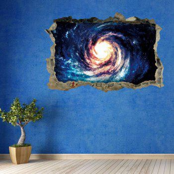 3D Galaxy Vortex Removable Broken Wall Art Sticker - BLUE BLUE