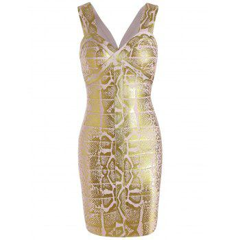 Glitter Sweetheart Neck Sleeveless Bandage Dress