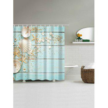 Plank Shell  Waterproof Polyester Shower Curtain - LIGHT BLUE W71 INCH * L79 INCH