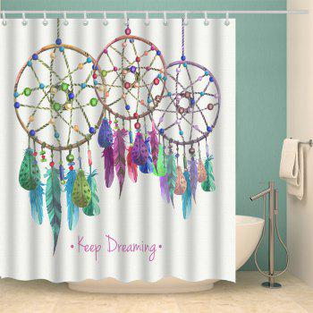 Feather Aeolian Bells Bathroom Shower Curtain - Blanc W71 INCH * L79 INCH