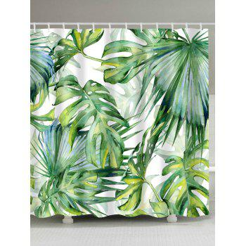 Fern Plants Watercolor Shower Curtain with Hooks