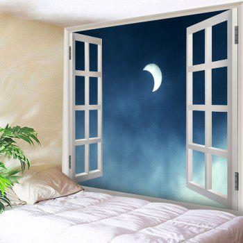 Window Moon Print Tapestry Wall Hanging Art