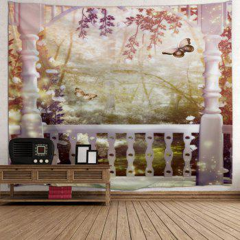 Fairyland Wall Hanging Tapestry For Home Decor - multicolorcolore W51 INCH * L59 INCH