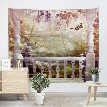 Fairyland Wall Hanging Tapestry For Home Decor - multicolorcolore W71 INCH * L91 INCH