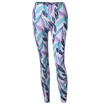 Feather Print Skinny Pants