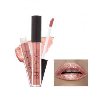 Moisturizing Waterproof Metallic Color Lip Glaze - #02