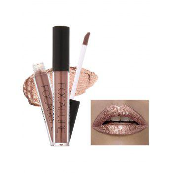 Moisturizing Waterproof Metallic Color Lip Glaze - #03