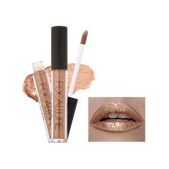 Moisturizing Waterproof Metallic Color Lip Glaze - #04