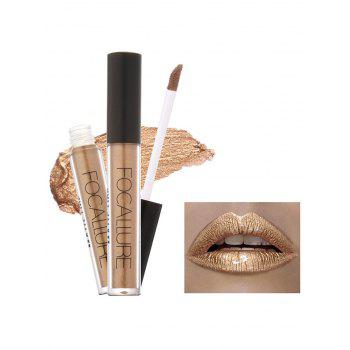 Moisturizing Waterproof Metallic Color Lip Glaze - #06